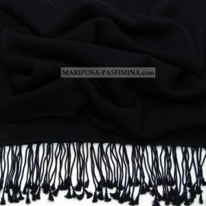 REAL PASHMINA - CASHMERE SHAWL - NAVY BLUE